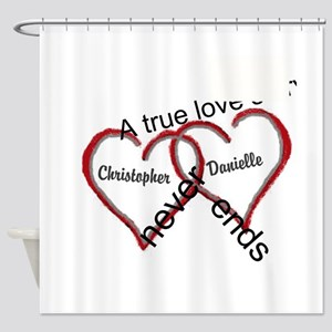 A true love story: personalize Shower Curtain