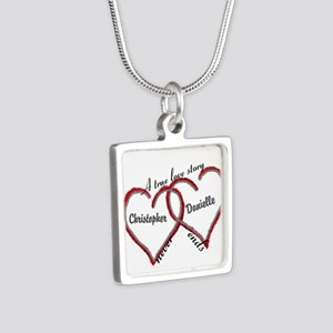 A True Love Story: Persona Silver Square Necklace