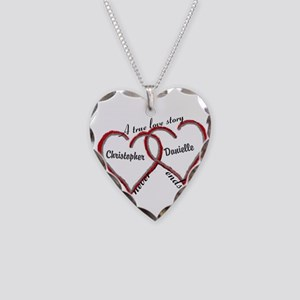 A True Love Story: Personaliz Necklace Heart Charm