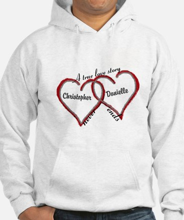 A true love story: personalize Hoodie