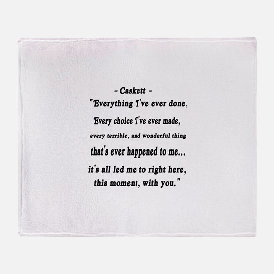 Caskett Throw Blanket