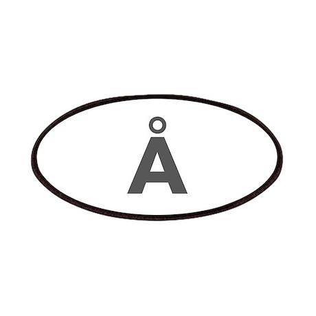 Letter Å Dark Gray Patches by lettersandnames