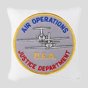 D.E.A. Air Operations Woven Throw Pillow