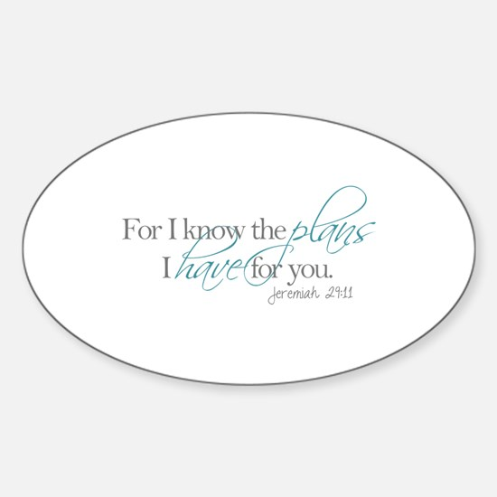 His Plans Decal