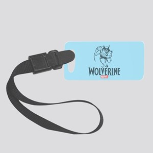 Blue Wolverine Small Luggage Tag