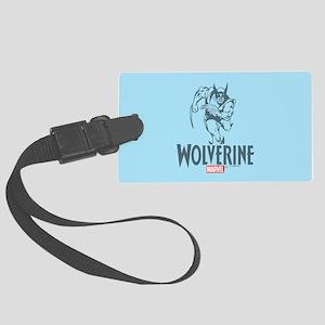 Blue Wolverine Large Luggage Tag