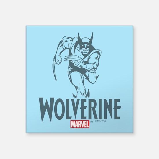 "Blue Wolverine Square Sticker 3"" x 3"""