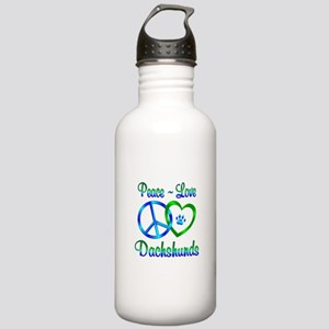 Peace Love Dachshunds Stainless Water Bottle 1.0L