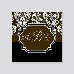 Initials Damask Design Sticker