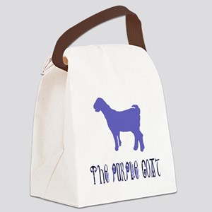 The Purple Goat Canvas Lunch Bag
