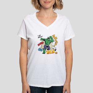 Hulk Smash Women's V-Neck T-Shirt
