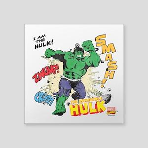 "Hulk Smash Square Sticker 3"" x 3"""