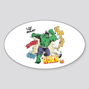 Hulk Smash Sticker (Oval)