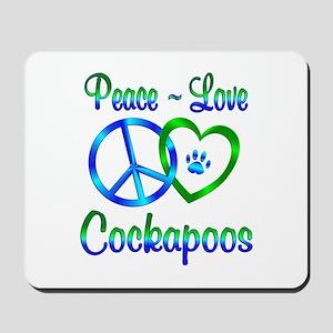 Peace Love Cockapoos Mousepad