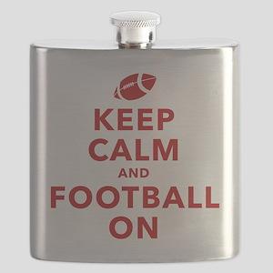 Keep Calm and Football On Flask