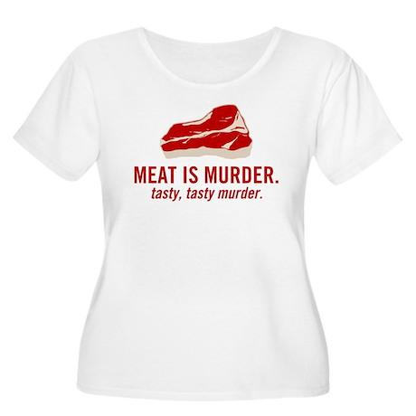 Meat is murder, tasty murder Women's Plus Size Sco