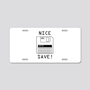 Nice Save! Aluminum License Plate