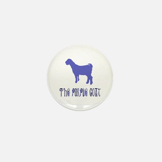 The Purple Goat Mini Button