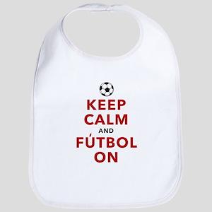 Keep Calm and Futbol On Bib