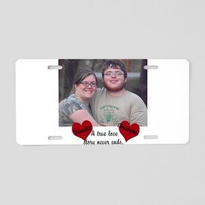 Personalize Picture Name True Love Aluminum Licens