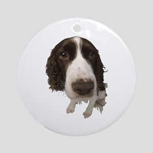 Springer Spaniel Close-Up Ornament (Round)