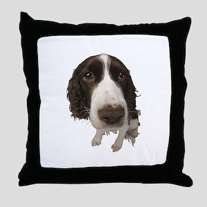 Springer Spaniel Close-Up Throw Pillow