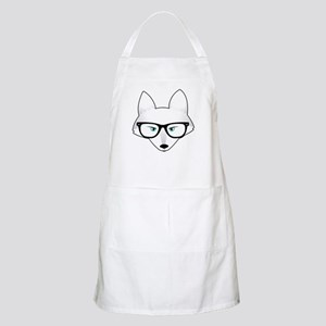 Cute Arctic Fox with Glasses Apron