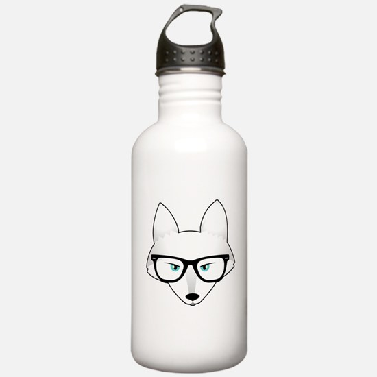 Cute Arctic Fox with G Water Bottle