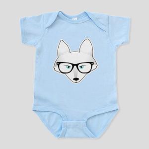 Cute Arctic Fox with Glasses Infant Bodysuit