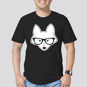 Cute Arctic Fox with G Men's Fitted T-Shirt (dark)