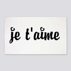 I Love You in French 3'x5' Area Rug