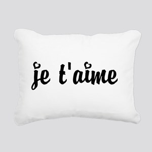 I Love You in French Rectangular Canvas Pillow
