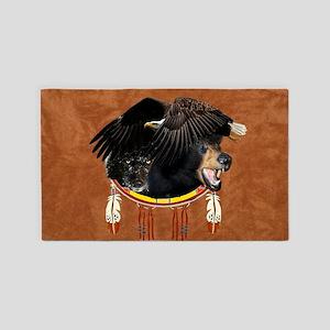 Eagle, Bear & Wolf 3'x5' Area Rug