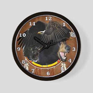 Eagle, Bear & Wolf Wall Clock