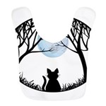 Cat Lover Cute Fat Cat Polyester Baby Bib