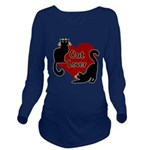 Fat Cat & Cat Lover Long Sleeve Maternity T-Shirt
