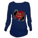 Fat Cat & Cat Lover Long Sleeve Maternity T-Shirt
