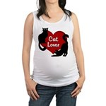 Fat Cat & Cat Lover Maternity Tank Top
