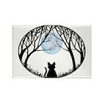 Fat Cat & Cat Lover Rectangle Magnet (10 pack)