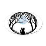 Fat Cat & Cat Lover Oval Car Magnet