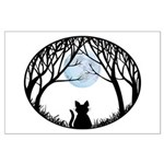 Cat Lover Cute Fat Cat Large Poster