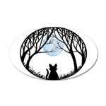 Cat Lover Cute Fat Cat 35x21 Oval Wall Decal