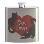 Fat Cat & Cat Lover Flask