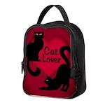 Fat Cat & Cat Lover Neoprene Lunch Bag