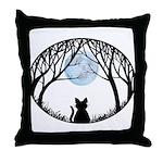 Fat Cat & Cat Lover Throw Pillow