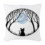 Fat Cat & Cat Lover Woven Throw Pillow