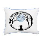 Fat Cat & Cat Lover Rectangular Canvas Pillow