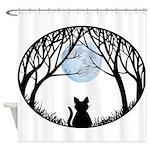 Fat Cat & Cat Lover Shower Curtain