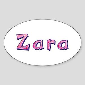 Zara Pink Giraffe Oval Sticker