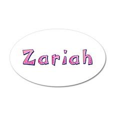 Zariah Pink Giraffe Wall Decal